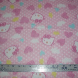 Fleece Hello Kitty hearts and dots
