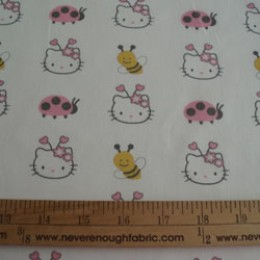 Hello Kitty Sanrio Bees and Ladybugs on white