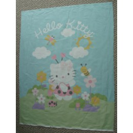 Hello Kitty cotton quilt top panel Ladybug Hello Kitty