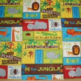 Artists of Kolea jungle animal patchwork