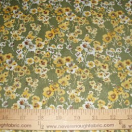 Floral print green/yellows