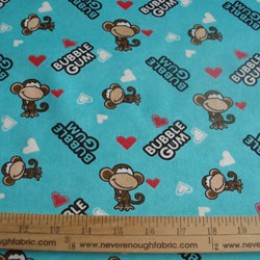 Babi Jack by Bobby Jack cotton flannel on turquoise blue