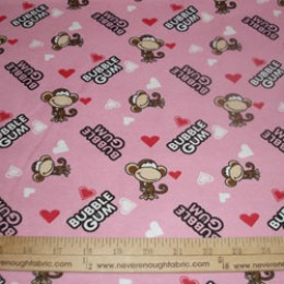 Babi Jack by Bobby Jack Cotton Flannel Bubble Gum on pink