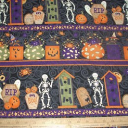 Cotton Fabric Debbie Mumm Halloween