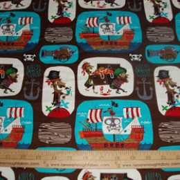 Pirates in brown and turquoise patches