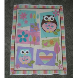 Cotton Quilt panel What A Hoot Owl by DT
