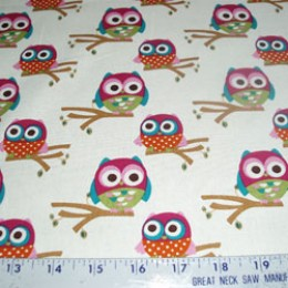 Grafiq Trafiq Hoot Owl collection on cream