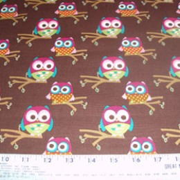Grafiq Trafiq hoot owl collection on brown