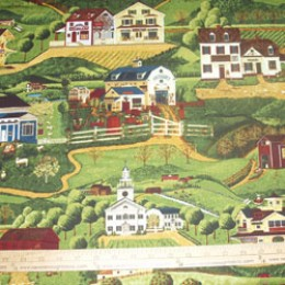 Robert Kaufman Yesteryear farm and Country Scene