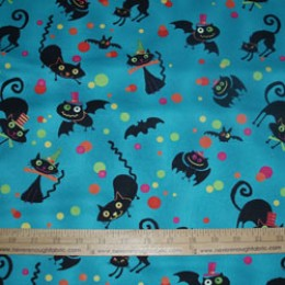 Wilmington Fabrics Nightmare Manor tossed bats and cats