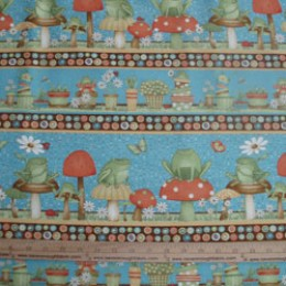 Cotton Fabric Debbie Mumm Hip Hop Garden LINEAR