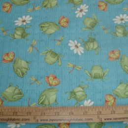 Cotton Fabric Debbie Mumm Hip Hop Garden on blue
