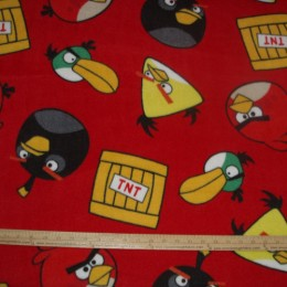 Fleece Licensed ANGRY BIRDS TNT on RED