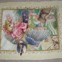 Cotton Fabric Quilt Panel Susan Wheeler Romantic Flight