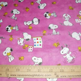 Snoopy and Woodstock on PINK