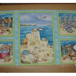 Cotton Fabric Seaside Rendezvous craft panel