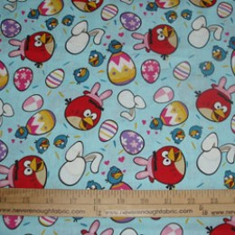 Cotton Fabric Licenced ANGRY BIRDS EASTER