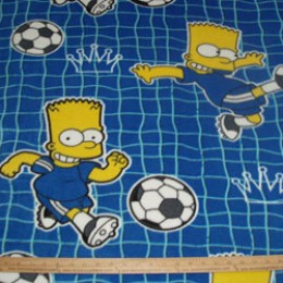 Fleece Bart Simpson playing Soccer