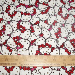 Cotton Fabric Hello Kitty Packed Hello Kitty faces