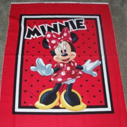 Cotton Blanket Quilt top panel Minnie Mouse