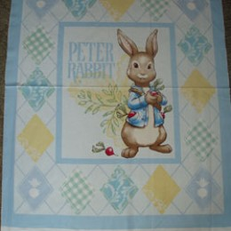 Cotton Blanket Quilt top panel Peter Rabbit