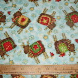 Cotton Fabric Santa's Journey REINDEERS