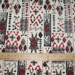 Cotton DUCK fabric heavy weight Native American