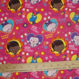 Cotton fabric Doc Mcstuffin on pink