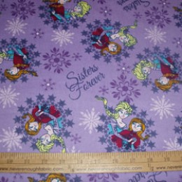 Disney's Frozen Sisters Forever on lavender FLANNEL