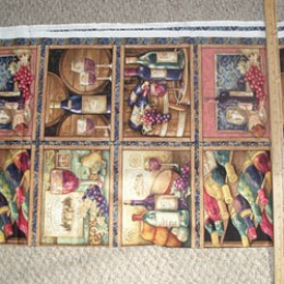 Wine lovers craft panel 12 rectangles