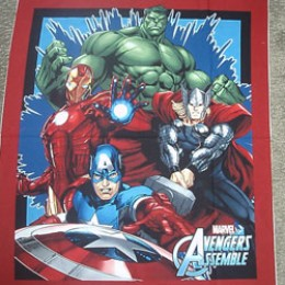 Cotton Quilt Blanket top panel The Avengers Assemble Thor Hulk Captian America Iron Man