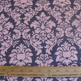 Michael Miller Dandy Damask in pink and gray