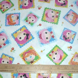 Lalaloopsy cute as a button squares on white