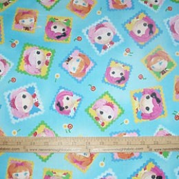 Lalaloopsy cute as a button squares on Blue