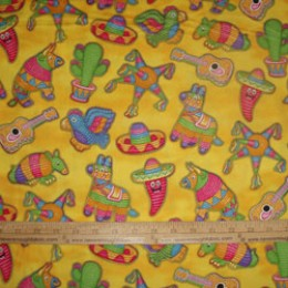 RJR Fabrics Pinatas on yellow