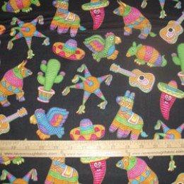 RJR Fabrics Pinatas on black