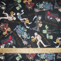 RJR Fabrics A Haunting we will go on black
