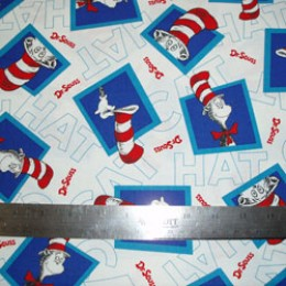 Dr Seuss Cat in the Hat COTTON on White