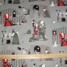 Elizabeth's Studio Oddities Collection - 4403 Witches Brew Vampires on Gray