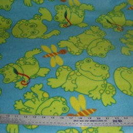 Fleece Frogs with long tongue and dragonflies