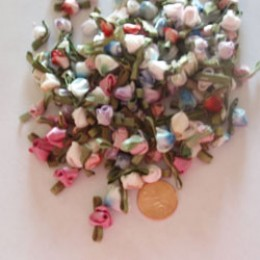 Silk Ribbon ROSEBUDS solid and variegated colors 100 count  #20