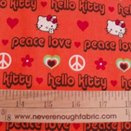 Hello Kitty Peace and Love Orange