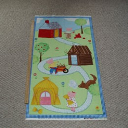 3 little Pigs Cotton Panel