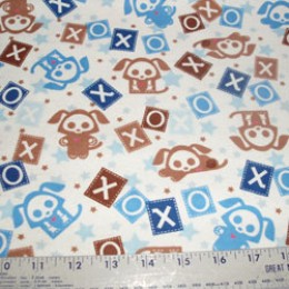 Skelanimals flannel puppy love  in blue
